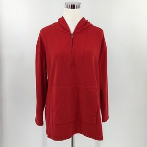 Pure J Jill Womens Full Zip Red Long Sleeve Hoodie